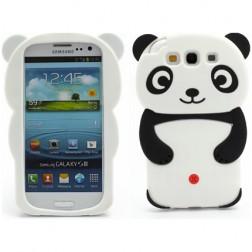 Žaismingas silikoninis dėklas - panda (Galaxy S3)