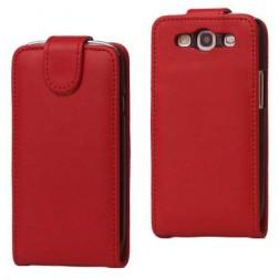 Klasikinis atverčiamas dėklas - raudonas (Galaxy S3)
