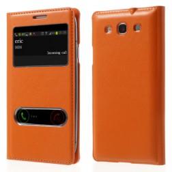 """Atverčiamas """"View Window"""" dėklas - oranžinis (Galaxy S3)"""