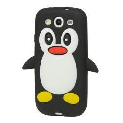 Žaismingas silikoninis dėklas - pingvinas (Galaxy S3)