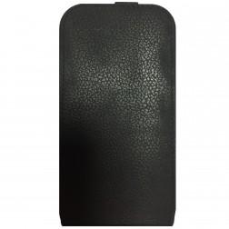"""""""Retro"""" vertikaliai atverčiamas dėklas - juodas (Galaxy S3)"""