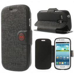 """""""Meilate"""" atverčiamas dėklas - juodas (Galaxy S3 mini)"""