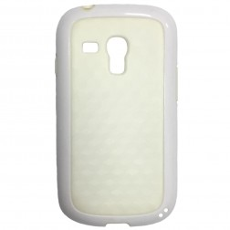 Kieto silikono dėklas - baltas (Galaxy S3 mini)