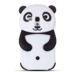 Žaismingas silikoninis dėklas - panda (Galaxy S3 mini)