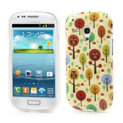 Žaismingas dėklas - pelėda medyje (Galaxy S3 mini)