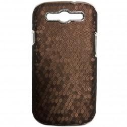 Elegantiškas korėtas dėklas - rudas (Galaxy S3)