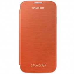 """""""Flip Wallet"""" atverčiamas dėklas - oranžinis (Galaxy S4)"""