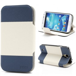 """""""Unique Series"""" atverčiamas dėklas - baltas, mėlynas (Galaxy S4)"""