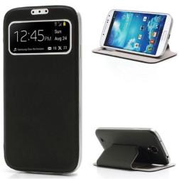 """Atverčiamas """"S-View"""" stiliaus dėklas - juodas (Galaxy S4)"""