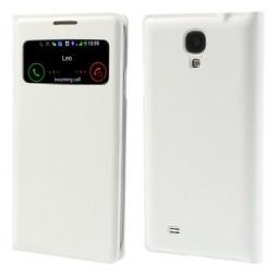 """""""Smart Window"""" atverčiamas odinis dėklas - baltas (Galaxy S4)"""