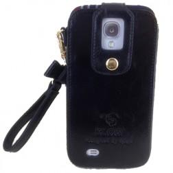 """""""Klogi"""" prabangus odinis dėklas - juodas  (Galaxy S4)"""