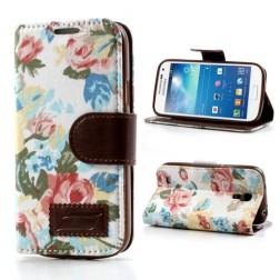 """Atverčiamas """"rožių"""" dėklas (piniginė) - spalvotas (Galaxy S4 mini)"""