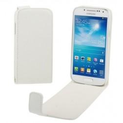 Vertikaliai atverčiamas dėklas - baltas (Galaxy S4 mini)