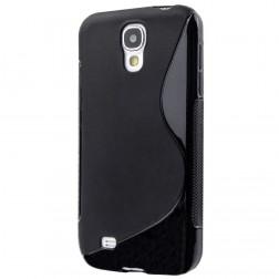 """""""S-Line"""" kieto silikono (TPU) dėklas - juodas (Galaxy S4 mini)"""