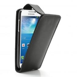 Klasikinis vertikaliai atverčiamas dėklas - juodas (Galaxy S4 mini)