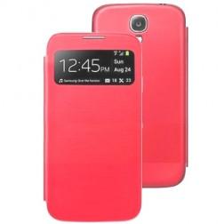 S View Cover atverčiamas dėklas - raudonas (Galaxy S4 mini)