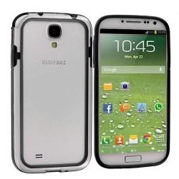 Rėmelis (bamperis) - skaidrus, juodas (Galaxy S4)