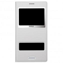 """""""Baseus"""" Pure atverčiamas dėklas - baltas (Galaxy S5 / S5 Neo)"""