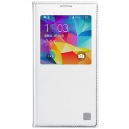 """""""View Window"""" atverčiamas odinis dėklas - baltas (Galaxy S5 / S5 Neo)"""