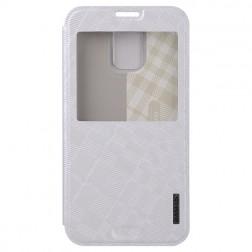 """""""Baseus"""" Brocade atverčiamas dėklas - baltas (Galaxy S5 / S5 Neo)"""