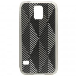 """""""Bullet"""" Pattern kieto silikono dėklas - pilkas (Galaxy S5 / S5 Neo)"""