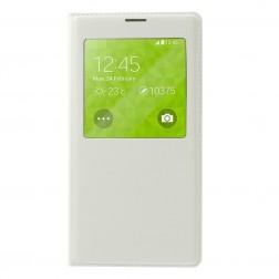 """""""Smart Window"""" atverčiamas odinis dėklas - baltas (Galaxy S5 / S5 Neo)"""