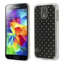 Elegantiškas dėklas - juodas (Galaxy S5 / S5 Neo)