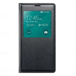 """""""Smart Window"""" atverčiamas odinis dėklas - juodas (Galaxy S5 / S5 Neo)"""