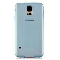 Ploniausias TPU skaidrus dėklas - mėlynas (Galaxy S5 / S5 Neo)