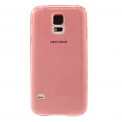 Ploniausias TPU skaidrus dėklas - raudonas (Galaxy S5 / S5 Neo)