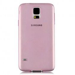 Ploniausias TPU skaidrus dėklas - rožinis (Galaxy S5 / S5 Neo)