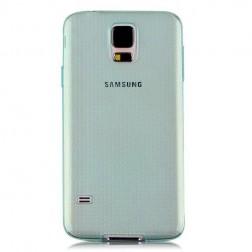 Ploniausias TPU skaidrus dėklas - žalias (Galaxy S5 / S5 Neo)
