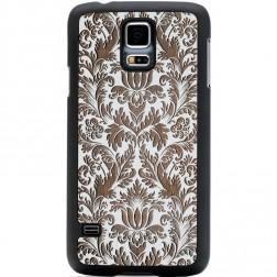 """""""Crafted Cover"""" natūralaus medžio dėklas - Gėlynas (Galaxy S5 / S5 Neo)"""