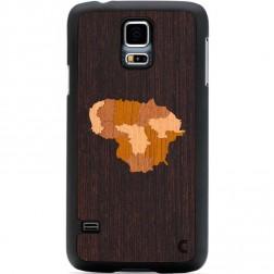 """""""Crafted Cover"""" natūralaus medžio dėklas - Lietuva (Galaxy S5 / S5 Neo)"""