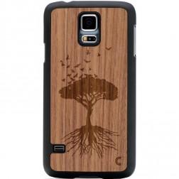 """""""Crafted Cover"""" natūralaus medžio dėklas - Medis (Galaxy S5 / S5 Neo)"""