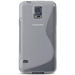 Kieto silikono dėklas - skaidrus (Galaxy S5 / S5 Neo)