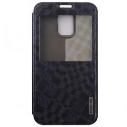 """""""Baseus"""" Brocade atverčiamas dėklas - juodas (Galaxy S5 / S5 Neo)"""