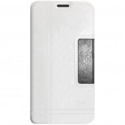 """""""Lychee"""" atverčiamas dėklas - baltas (Galaxy S5 / S5 Neo)"""