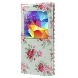 """""""Rose"""" atverčiamas dėklas - mėtinis (Galaxy S5 / S5 Neo)"""