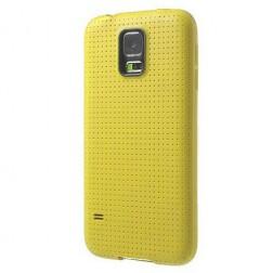 """""""Dots"""" kieto silikono (TPU) dėklas - geltonas (Galaxy S5 mini)"""