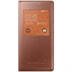 """""""Samsung"""" S View Cover atverčiamas dėklas - auksinis (Galaxy S5 mini)"""