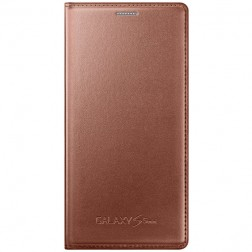 """""""Samsung"""" Flip Cover atverčiamas dėklas - auksinis (Galaxy S5 mini)"""