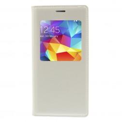 """""""Smart Window"""" atverčiamas odinis dėklas - baltas (Galaxy S5 mini)"""