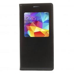 """""""Smart Window"""" atverčiamas odinis dėklas - juodas (Galaxy S5 mini)"""