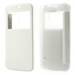 """Atverčiamas """"View Window"""" dėklas - baltas (Galaxy S5 mini)"""
