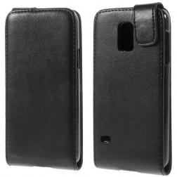 Vertikaliai atverčiamas dėklas - juodas (Galaxy S5 mini)