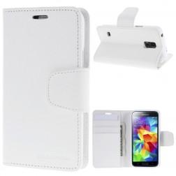 """""""Mercury"""" Sonata atverčiamas dėklas - baltas (Galaxy S5 mini)"""