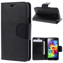 """""""Mercury"""" Sonata atverčiamas dėklas - juodas (Galaxy S5 mini)"""