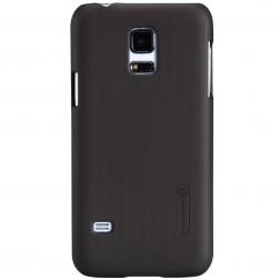 """""""Nillkin"""" Frosted Shield dėklas - rudas + apsauginė ekrano plėvelė (Galaxy S5 mini)"""