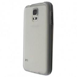 Ploniausias TPU dėklas - skaidrus, pilkas (Galaxy S5 mini)